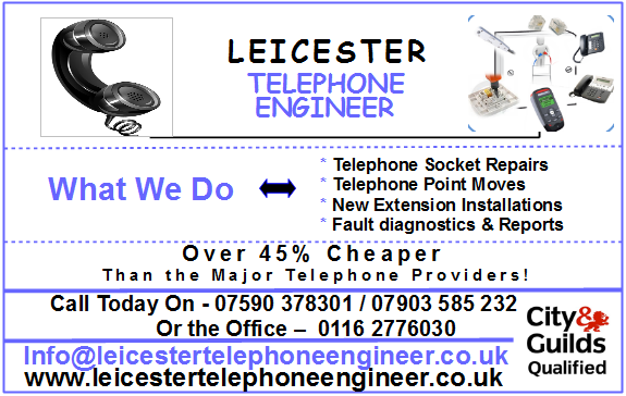 Leicester Telephone Engineer bt Socket Repair and extensions