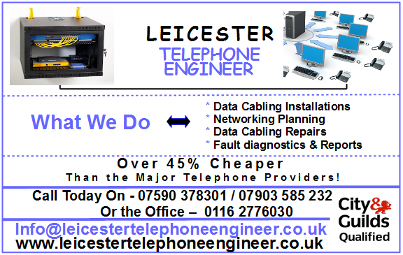 Leicester telephone engineer data cabling services