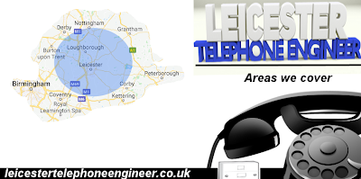 Leicester Telephone Engineer areas we cover in the midlands and Leicestershire